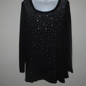 MEDIUM STYLE & CO BEDAZZELED TOP #173